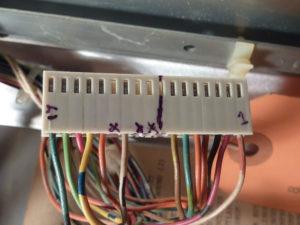 New plug with markings.