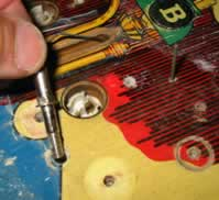 removal of playfield parts
