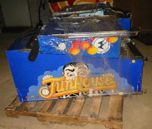 Folded up pinball machine