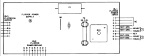 Williams System 7 flipper power supply